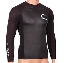 1,5mm ScubaTec Thermo Shirt Super Stretch Neopren Surfshirt Kiteshirt langarm