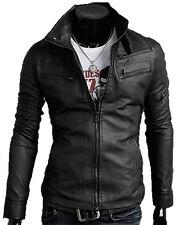 ★PELLE 100%★ Giacca Giubbotto in di Pelle Uomo Men Leather Jacket Veste Cuir 09p