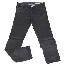 7135S jeans bimba DIESEL nero lucido pantalone skinny pant trouser kid