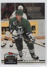 1992-93 Topps Stadium Club #111 Geoff Sanderson Hartford Whalers Hockey Card