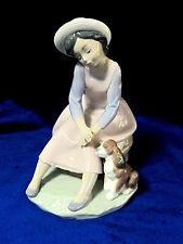 Lladro #7645 By My Side Brand Nib Rare Girl Dog Bargain $165 Off Nice Free Ship