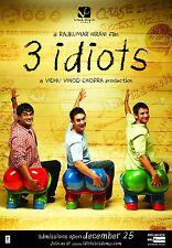 Casa Pared Arte Impreso-Vintage película Bollywood Poster - 3 Idiots-A4, A3, A2, A1