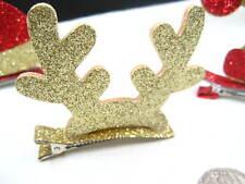 Regalo di Natale Sparkle grandi corna di renna Clip Capelli per Ragazze Natale Festa Headwear