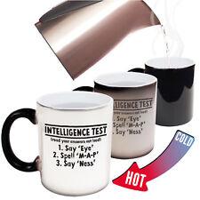 Funny Mugs - Intelligence Test - birthday gift Pun MAGIC NOVELTY MUG