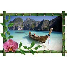 Sticker Bambou déco barque plage987