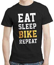 Eat Sleep Bike Repeat - T-shirt Tshirt Tee Biker Cyclist Cycling Gift Birthday
