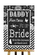 GESSO INVERNO NATALE Here Comes Your SPOSA Daddy PERSONALIZZATO WEDDING segno