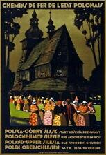 84553 Vintage Upper Silesia Poland Polish Old Church Decor WALL PRINT POSTER CA
