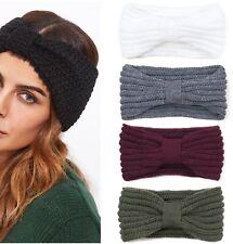Damen Mädchen Strick Stirnband Ohrwärmer Herbst Winter Kopfband Haarband Turban