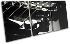 Elecric Guitar Musical TREBLE DOEK WALL ART foto afdrukken