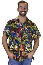 Funky Chemise Hawaïenne Jungle Noir
