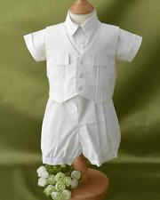 PRETTY ORIGINAL BABY BOYS CREAM CHRIStENING 3 PEICE SUIT STYLE DL07805
