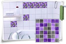 Fliesenaufkleber Fliesenbild Fliesen Aufkleber Fliesenimitat Mosaik Violett