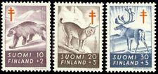 Finland 1957 Mammals Anti-Tuberculosis (Full Set 3) MNH