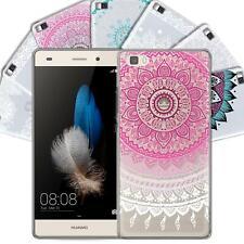 Huawei P8 Lite Handy Schutz Hülle Case TPU Silikon Cover Tasche Mandala Muster