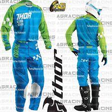 Thor 2016 fase Ramble Azul Verde Carrera Camiseta pantalón Combo Kit Motocross Enduro