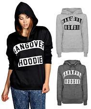 Ladies Hangover Hoodie Sweatshirt Size 8 -14
