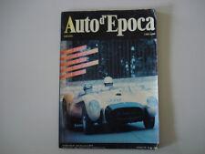 AUTO D'EPOCA 6/1989 ALGER-LE CAP/COPPA CITTA' DI PESARO/BIANCHI 350/MILLE MIGLIA