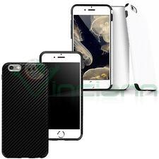 """Pellicola+Custodia Effetto Fibra Carbonio per iPhone 6 6S 4.7"""" cover case TPU"""
