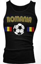 Romanian Europian National Soccer Team Red and Yellow  Boy Beater Tank Top