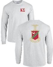 Kappa Sigma Fraternity Crest Long Sleeve Shirt Kappa Sig Coat of Arms - NEW