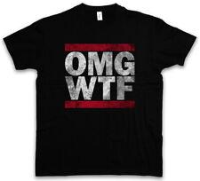 OMG WTF T-SHIRT Run Letters DMC Fun Shirt Oh my God Oh mein Gott What the