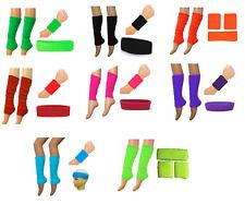 YOGA DANCE NEON LEG WARMER SWEAT BAND HEAD WRIST TENNIS UV HEN PARTY FLOURESCENT
