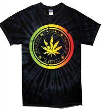 FOGLIA DI CANNABIS Tie Dye T-Shirt-Festival di Marijuana erba Spinello