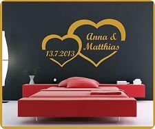 Autocollant Tatouage Murales Avec Votre Nom Imprimé Cœurs D'amour Petit Cœur