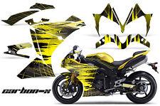 AMR RACING GRAPHICS DECAL WRAP KIT- YAMAHA R1 STREET BIKE, 2010-2012 - CARBON Y