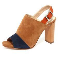 B1195 sandalo donna UNISA YUSE scarpa beige/blu/arancione shoe woman