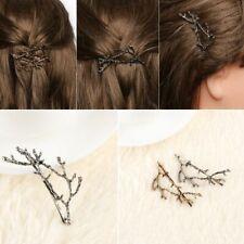 Head Dress Women Barrette Flower Branch Leaves Metal Jewelry Hairpin Hair Clip
