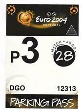 Orig.Ticket / Parkticket   EM 2004   TSCHECHIEN - DÄNEMARK   1/4 FINALE  !!  TOP