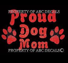 VRS PROUD DOG MOM Paw Print Puppy Adoption Rescue Metal Car Decal Wall Sticker