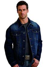 Stetson Western Jacket Mens Denim Logo Button Blue 11-097-0670-0651 BU