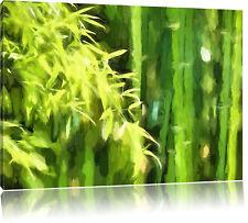 Bambus Leinwandbild Wanddeko Kunstdruck