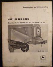 John Deere Strohhäcksler Betriebsanleitung