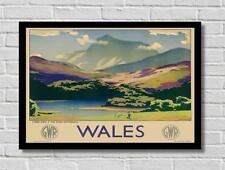 VINTAGE Galles in treno GWR ferroviaria viaggi turistici POSTER STAMPA FOTO A3 A4