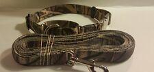 Medium Camouflage Martingale Dog Collar & Leash METAL BUCKLES 15.5 to 20.5