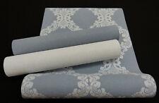 "36090-) moderne Vliestapete ""Elegance"" Ornament-Design blaugrau hellgrau"