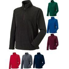 Mens Russell Collection 1/4 Zip Outdoor Fleece Top
