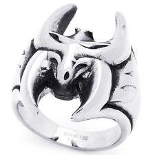 Men Women Fashion 21Mm Stainless Steel Antique Bat Ring For Men