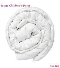 Young Children's Duvet 4.5 tog, White Blended Cotton 3ft (135x200cm) Single SS
