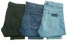 Nuevo Para Hombres Ex-Wrangler larston Stretch Jeans Cónicos Slim Rrp £ 80 Ref: WA84