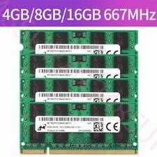 For Micron 16GB 8GB 4GB 2GB 1GB DDR2 PC2-5300S 667MHz SODIMM RAM Laptop Lot UK