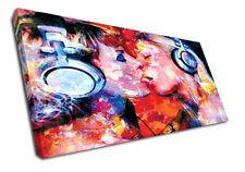 0324 Dj Canvas Erotic Wall Art Lesbian Music Modern Print