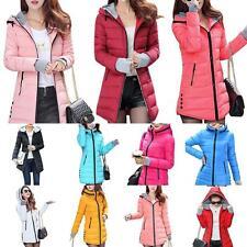 Winter Women Down Cotton Parka Long Fur Collar Hooded Coat Jacket Outerwear