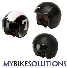 Nitro X581 Open Face Motorcycle Motorbike Scooter Decal Cruiser Black Helmet