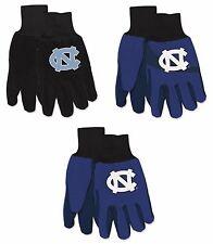 NCAA North Carolina Tar Heels No Slip Gripper Utility Work Gardening Gloves NEW!