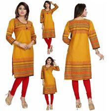 India de algodón de Moda de Mujer Corto Kurti Kurta Top Camisa Vestido Túnica MM113